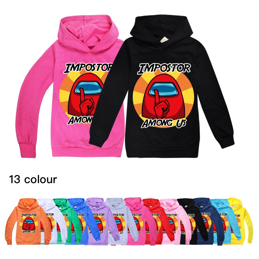 Halloween Clothes Girls Impostor Among Us Crewmate Toddler Girl Fall Clothes 2020 Boy Hooded Boutique Kids Clothing Baby Tops 1