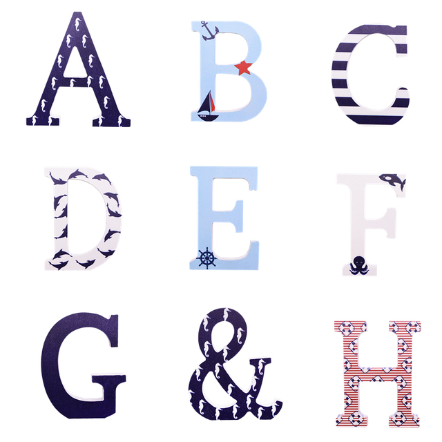 Multicolour 26 Alphabet Word Easter English Wooden Letters DIY Personalized Handmade Name Design Art Crafts Home Wedding Decor 3