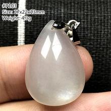 Reale Natürliche Mondstein Halskette Anhänger Für Frau Dame Mann Glück Perlen Wasser Tropfen Weißen Licht Kristall Silber Stein Schmuck AAAAA