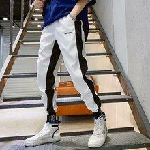 Men Fashion Hip Hop Pants Harem Harajuku Joggers Sweatpant Vintage Striped Streetwear Mens Clothing
