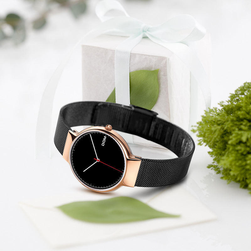 DOM Watch 2018 Hot Selling Watch Fashion Ultra-Thin Mesh Belt Scandinavian Minimalist Three Needle Watrproof Watch G-32GK-1MH