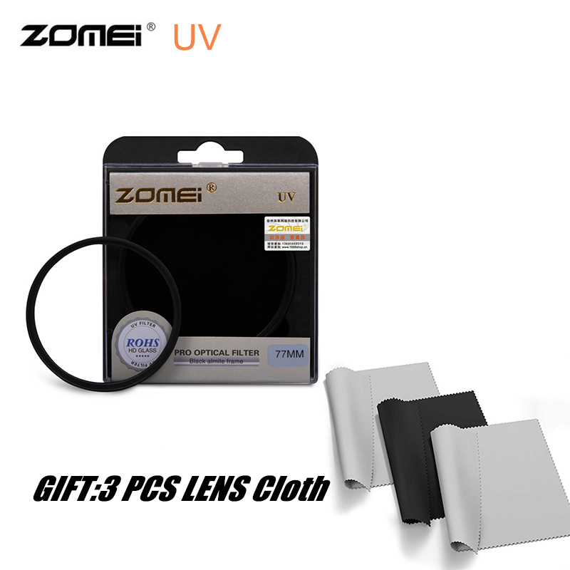 ZOMEI UV Filter HD Clear Glass Ultra Violet Camera Filter Dustproof Protection Lens for 40.5 49 52 55 58 62 67 72 77 82mm image