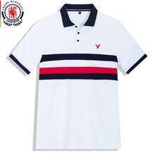 Fredd Polo Marshall 2020 para hombre, camiseta informal de negocios de manga corta, Polo de hombre, polos a rayas de moda 502