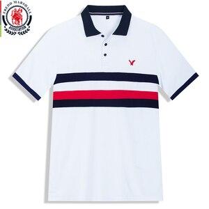 Image 1 - Fredd Polo Marshall 2020 para hombre, camiseta informal de negocios de manga corta, Polo de hombre, polos a rayas de moda 502