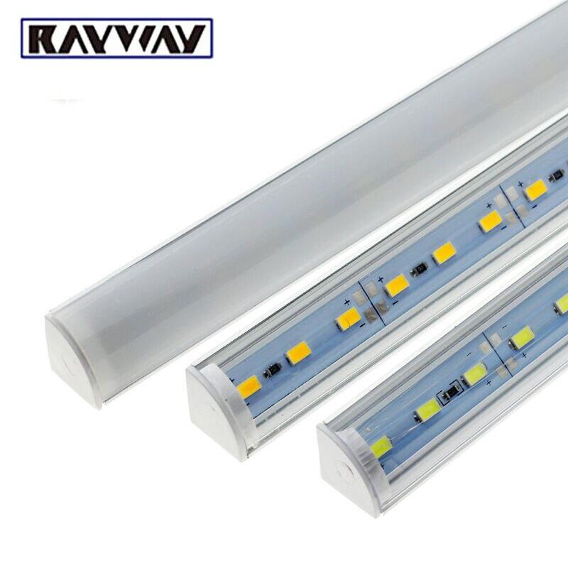 Wall Corner Kitchen Light DC12V New Right Angle LED Bar Light SMD5730 50cm Rigid  LED Strip Light For Under Cabinet