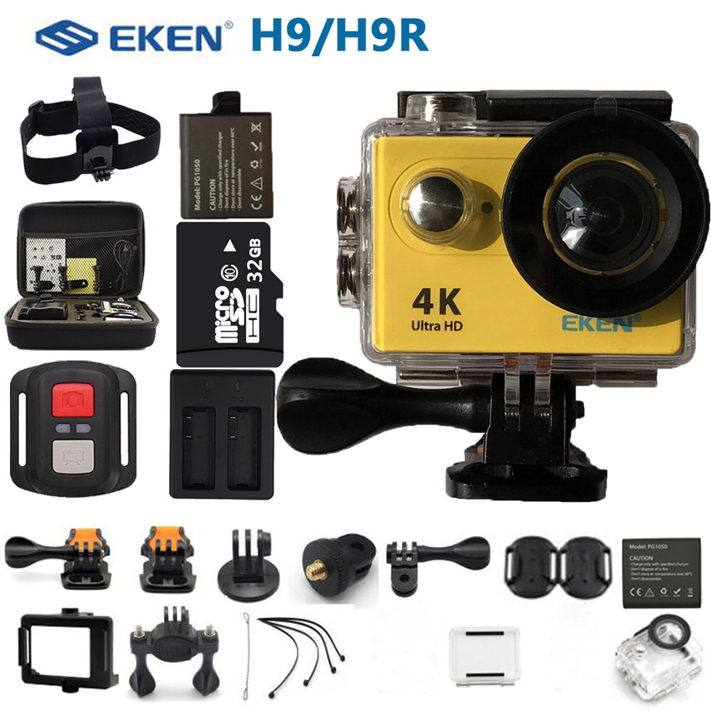 EKEN H9R H9 Action Camera HD Ultra 4K Sports Camcorder Remoto Wi-fi Mini Capacete ir pro extreme cam 2.0
