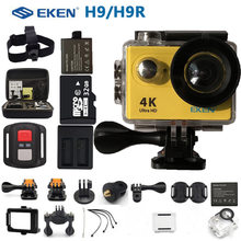 "EKEN H9R H9 Action Camera Ultra HD 4K Sports Camcorder Remote WiFi Mini Helmet go extreme pro cam 2.0"" 170D For RC Drone(China)"
