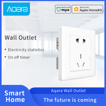 Aqara Smart Wall Socket for Xiaomi Smart home Outlet ZigBee connections Wireless Remotel Control Switch Work with Mijia APP