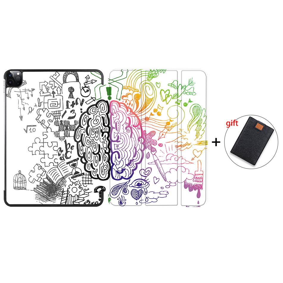 IP17 MULTI MTT Case For iPad Pro 12 9 inch 2020 Release Model A2229 A2233 Magnetic PU Leather