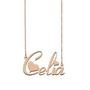 Женское колье-чокер Celia, колье из нержавеющей стали с именной табличкой, подарок