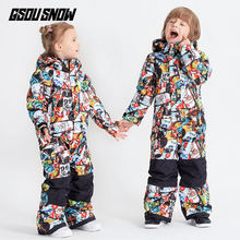 Boys Girls One Piece Ski Suit Winter Clothing Super Warm Outdoor Sport Wear Skiing Snowboard Kids Jacket Overall Thicken Coat(China)
