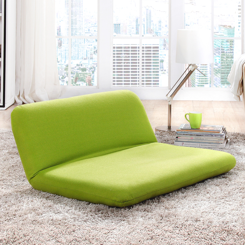 Double Folded Floor Sofa Bed Free Adjustable Sofa Plaid Japanese Furniture Living Room Reclining Chair Cover Removable
