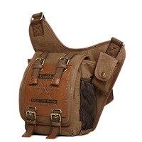 Outdoor Military Tactical Shoulder Messenger Bag Army Knight Bag Casual Canvas Bag Retro Fashion Hiking Camping Travel Bag