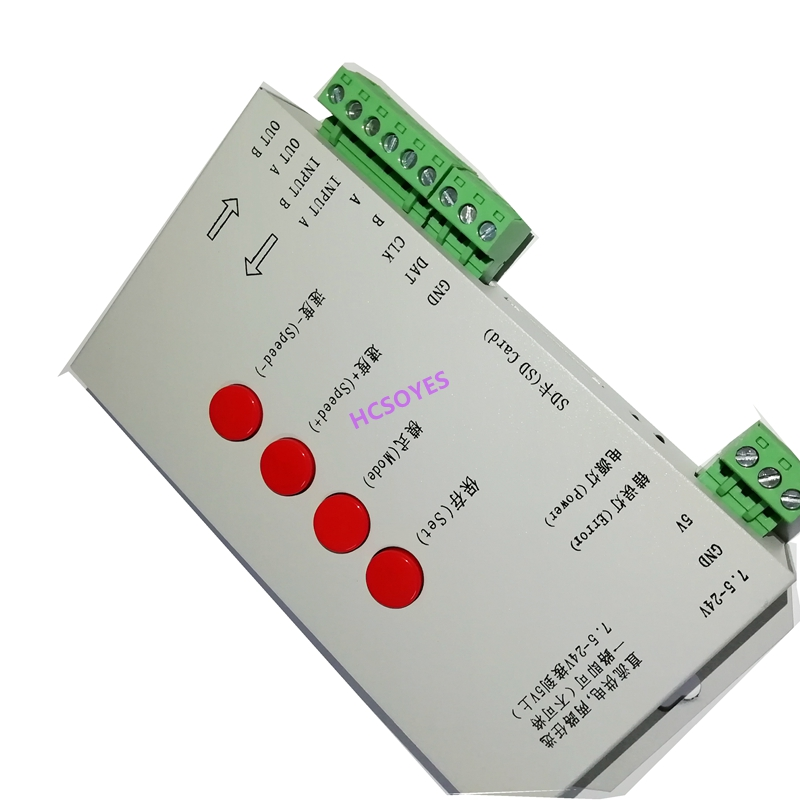 Image 5 - T1000S SD Card APA102 WS2801 WS2811 WS2812B LPD6803 DMX512 LPD8806 LED 2048 Pixels Controller DC5~24V T 1000S RGB Controller-in RGB Controlers from Lights & Lighting