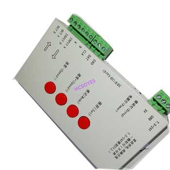 T1000S SD Card APA102 WS2801 WS2811 WS2812B LPD6803 DMX512 LPD8806 LED 2048 Pixels Controller DC5~24V T-1000S RGB Controller