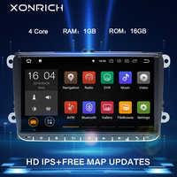 """9 """"2 Din Android 10 radio samochodowe nawigacja GPS dla VW Passat B6 touran volkswagen Skoda Octavia 2polo golf 5 6 Multimedia DVDPlayer"""