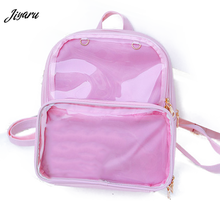 New Women Backpacks Transparent Backpacks Student Bags Candy Clear Backpacks Fashion Ita Bags for Girls Cute Student Bags