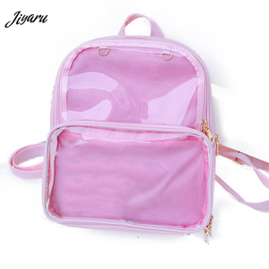 Image 1 - Novas mochilas femininas mochilas transparentes sacos de estudante doces claro mochilas moda ita sacos para meninas bonito estudante sacos