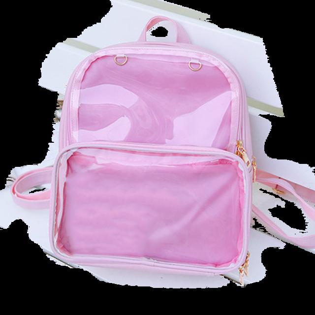 Novas mochilas femininas mochilas transparentes sacos de estudante doces claro mochilas moda ita sacos para meninas bonito estudante sacos