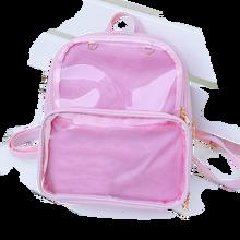 Nowe damskie plecaki przezroczyste plecaki torby dla uczniów cukierki jasne plecaki moda Ita torby dla dziewczynek śliczne torby dla uczniów