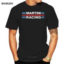 Williams martini corrida nova camisa masculina de mangas curtas verão casual do vintage t de algodão ginásios fitness topos camiseta