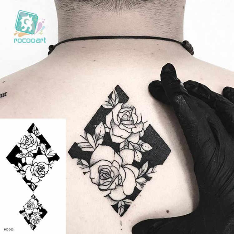 Tatuaje de transferencia al agua, tatuaje minimalista pequeño de sol y luna, arte corporal a prueba de agua falsos temporales, tatuaje para hombre y mujer chico 10,5*6cm