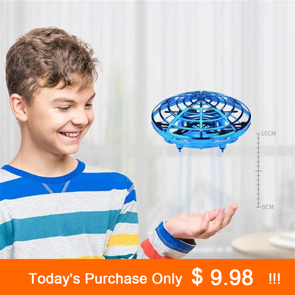 Anti-colisión de vuelo de helicóptero mano UFO pelota aviones de Mini de Drone eléctrico juguete