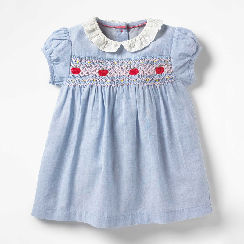 Little maven New Arrvial Girls Dress Apple Applique Girls Princess Party Dresses Toddlers Summer Dress Kids Clothing Dresses 2