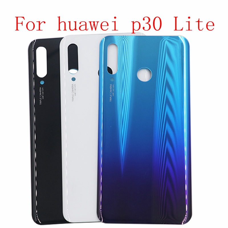 New P30 Lite Battery Cover For Huawei P30 Lite Back Glass Rear Door Panel Housing Case+Adhesive Sticker Repair Part