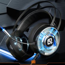AJAZZ AX360 Gaming Headset 3.5mm Stereo Bass Headphones with Microphone Noise Canceling Earphones with LED Lights цена 2017