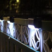 Quente solar escada led lâmpada ip65 à prova dwaterproof água jardim ao ar livre caminho quintal pátio escadas passos cerca lâmpadas branco quente luz solar noite