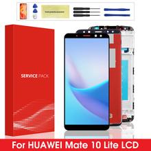 Oryginalny wyświetlacz do Huawei Mate 10 Lite LCD z ekranem dotykowym Digitizer z ramką do ekranu Huawei Mate10 Lite Nova 2i RNE-L21 tanie tanio Pojemnościowy ekran 1920x1080 3 For Huawei Mate 10 Lite LCD LCD i ekran dotykowy Digitizer 5 9 inch Black White Gold