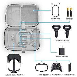 Image 1 - المحمولة سماعات VR حقيبة التخزين اللمس وحدات تحكم السفر حقيبة حمل ل كوة كويست VR الملحقات