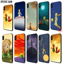IYICAO The Little Prince Soft Black Silicone Case for iPhone 11 Pro Xr Xs Max X or 10 8 7 6 6S Plus 5 5S SE