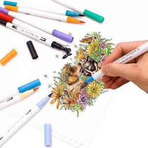 Image 4 - Aquarellen Borstel Pen Art Markers Schets Pen Tekening Borstel Set 12 24 36 48 60 72 100 120 Kleuren Professionele markers Terug School