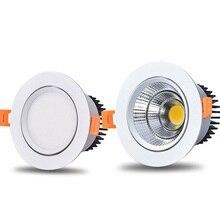 Диммируемый светодиодный светильник Регулируемый угол наклона COB потолочный светильник 5 Вт 7 Вт 9 Вт 12 Вт 15 Вт потолочный встраиваемый светильник s AC85-265V