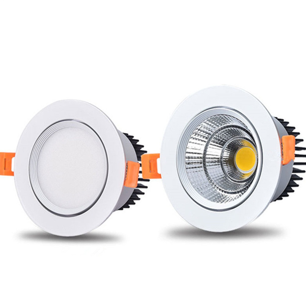 Dimmable Led Downlight Light Angle Adjustable COB Ceiling Spot Light 5w 7w 9w 12w 15w Ceiling Recessed Lights AC85-265V