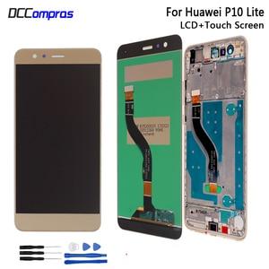 Image 1 - Жк дисплей для HUAWEI P10 Lite, дигитайзер сенсорного экрана в сборе, оригинальные запасные части для HUAWEI P10 Lite, жк дисплей