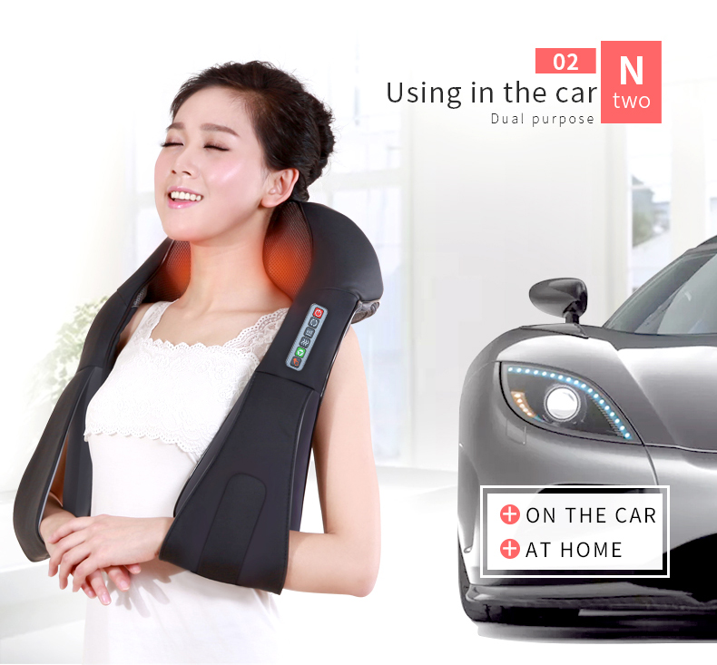 Jinkairui Electrical Neck Shoulder Back Body Massager With Infrared Shiatsu Kneading Massage 7