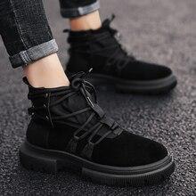 الخريف الشتاء الرجال الأحذية الرجعية مارتن الأحذية الذكور Zapatos Erkek بوت حذاء كاجوال جودة عالية أحذية رياضية بوتا الذكور