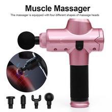 1200-3300r/ Min Vibrating Fascia Gun Muscle Massage Gun Deep Tissue Massager Treatment Gun Exercise Muscle Pain Relief Body Shap