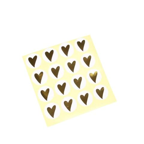 1600 pcs lote kawaii bronzeamento coracao diy multifuncoes redondo selo adesivos etiqueta de embalagem