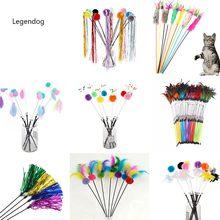 1 pçs cor aleatória brinquedo teaser animal de estimação criativo interativo moda gato teaser brinquedo gato teaser varinha engraçado brinquedo do gato de estimação suprimentos do gato