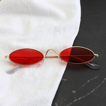 Classic Metal Small Glasses Designer Brand Trend Trend Sunglasses Women Sexy Gla