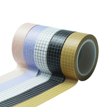 Masking Tape Stationery Stickers Decorative Adhesive Japanese-Paper Grid White 10M Planner