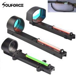 Eua tático vermelho verde fibra vista holográfica vista apto acessório arma para escopo caça espingarda