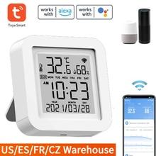 Tuya – capteurs intelligents WiFi, alimentation USB, affichage de la température/humidité, capteurs de liaison compatibles avec Alexa Google Home