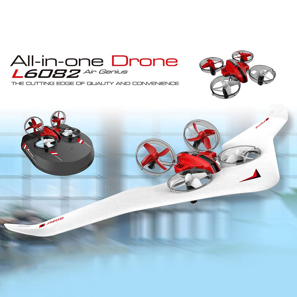 3 In 1 RC Mini Quadcopter Glider Hovercraft Boat Mode Fixed Wing Kids Toy Gift Remote Control Drone RC Plane Toys For Children