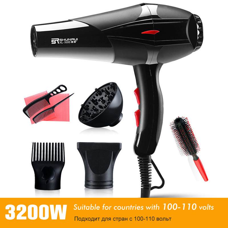 3200W 100-110V Professional Strong Power Hair Dryer For Hairdressing Barber Salon Tools Blow Dryer Hot/Cold Wind Hairdryer 35