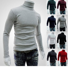 New Autumn Winter MenS Sweater MenS Turtleneck Long sleeve Solid Color